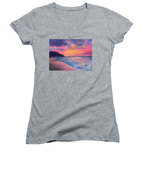 Sea Of Tranquility Women's V-Neck T-Shirt