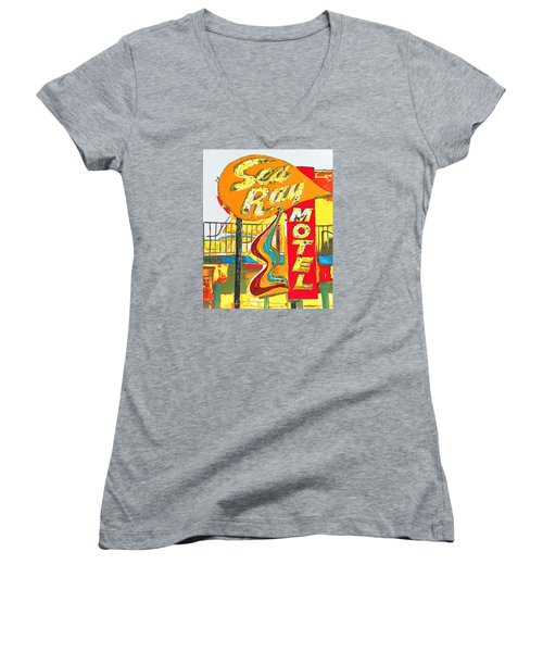 Sea Ray Motel Women's V-Neck T-Shirt