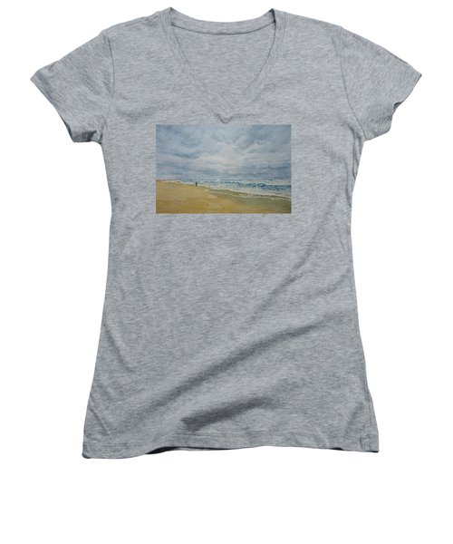 Sea Shore Women's V-Neck T-Shirt