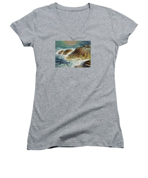 Sea Symphony. Part 2. Women's V-Neck T-Shirt