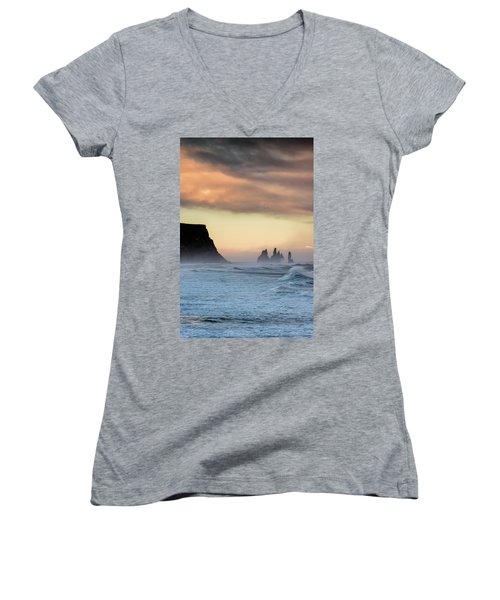 Sea Stacks Women's V-Neck (Athletic Fit)