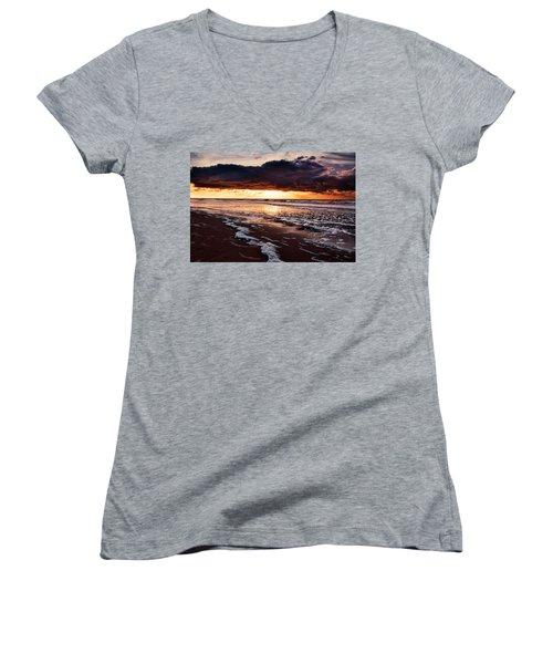Sea Sunset Women's V-Neck T-Shirt
