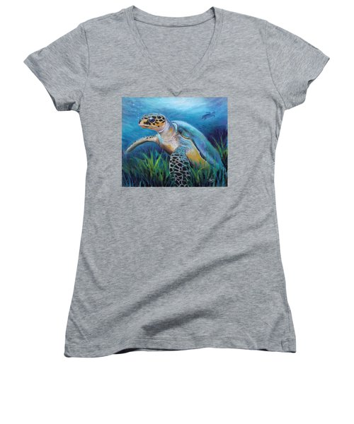 Sea Turtle Cove Women's V-Neck