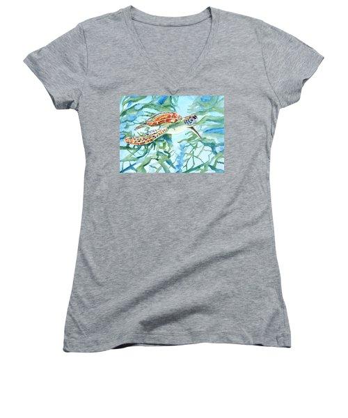 Sea Turtle Series #1 Women's V-Neck T-Shirt