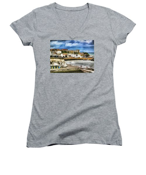 Seafront Broadstairs Kent Women's V-Neck