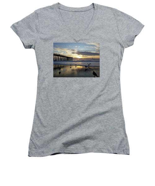 Seagulls And Salty Air Women's V-Neck (Athletic Fit)