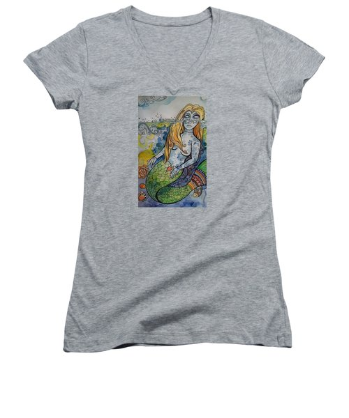 Searching Women's V-Neck T-Shirt