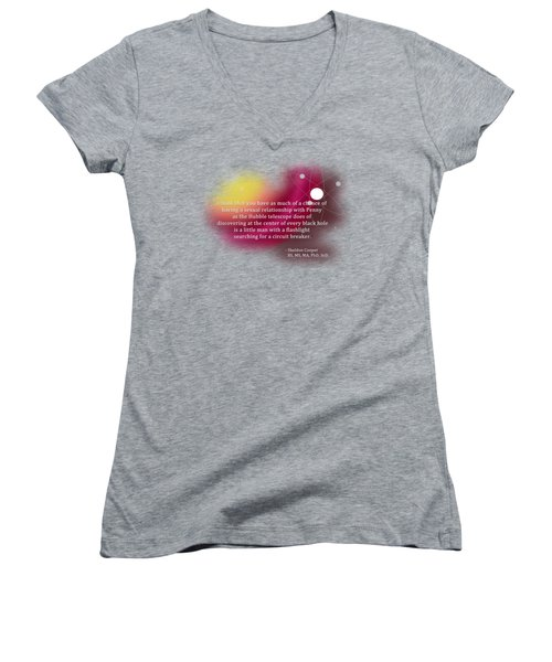 Searching For A Circuit Breaker Women's V-Neck T-Shirt (Junior Cut) by Paulette B Wright