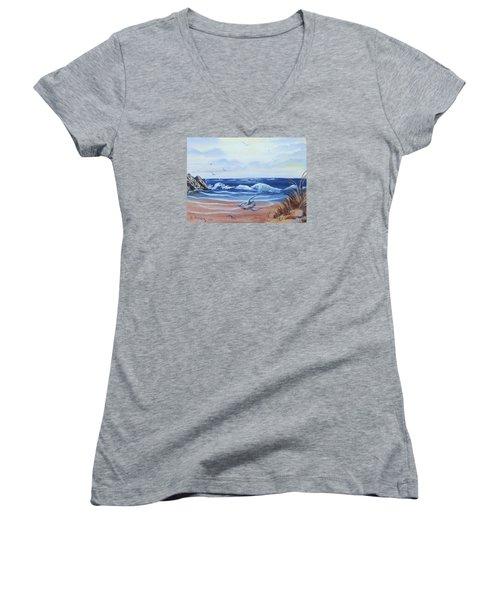 Seascape Women's V-Neck T-Shirt