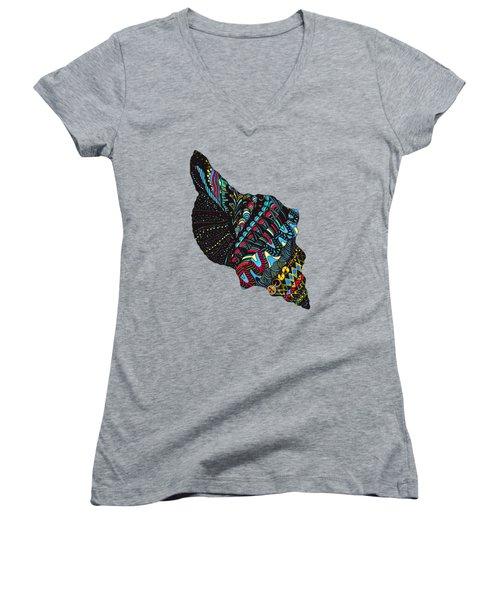 Seashell Women's V-Neck T-Shirt