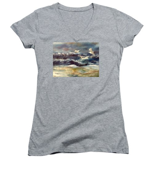 Seaside Serenade Women's V-Neck