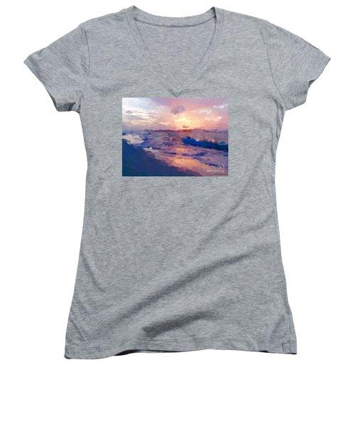Seaside Swirl Women's V-Neck T-Shirt