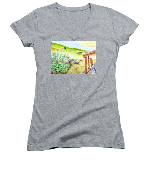 Seasons First Tomatoes Women's V-Neck (Athletic Fit)