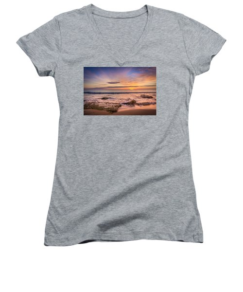 Seaview Sunrise. Women's V-Neck