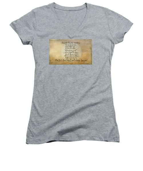 Seconds Become Eons Women's V-Neck