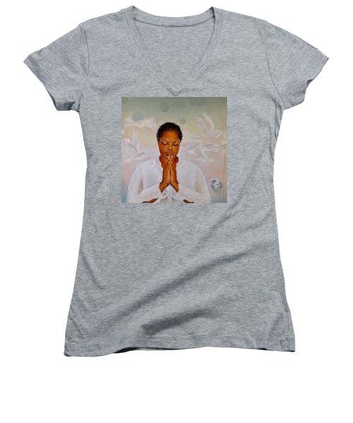 Secret Closet Women's V-Neck T-Shirt (Junior Cut) by Christopher Marion Thomas