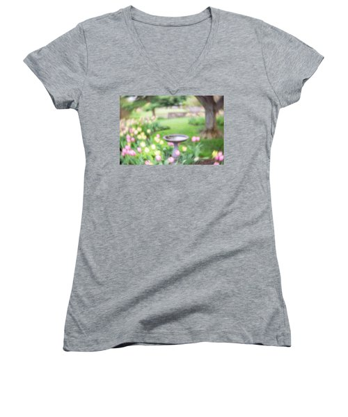 Women's V-Neck featuring the photograph Secret Garden 1 by Brian Hale