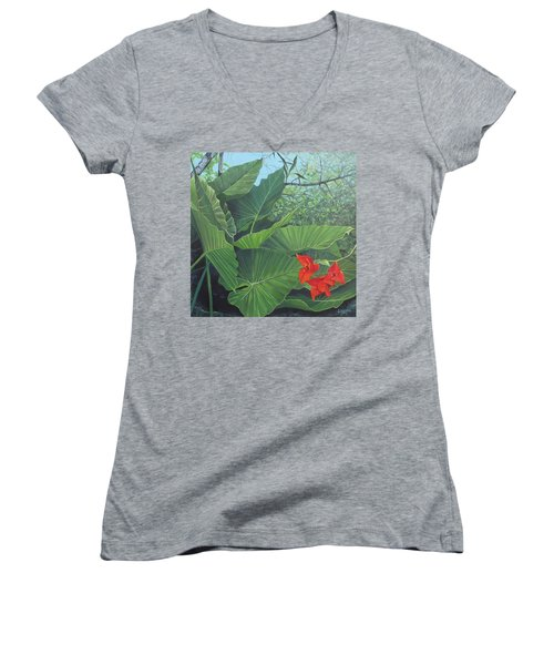 Secret Of San Sebastian Women's V-Neck T-Shirt (Junior Cut)