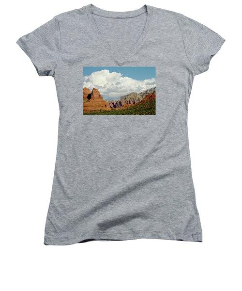 Women's V-Neck T-Shirt (Junior Cut) featuring the photograph Sedona Arizona by Bill Gallagher