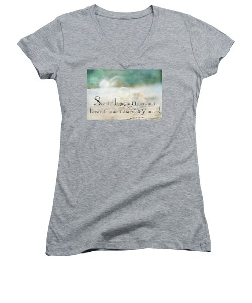 See The Light In Others Women's V-Neck