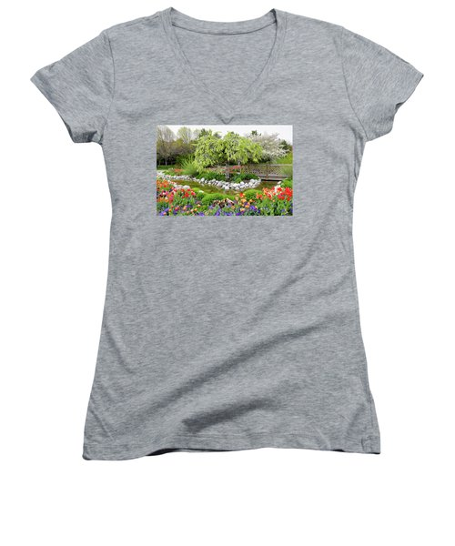 Women's V-Neck T-Shirt (Junior Cut) featuring the photograph Seeing Beauty In All Things by James Steele