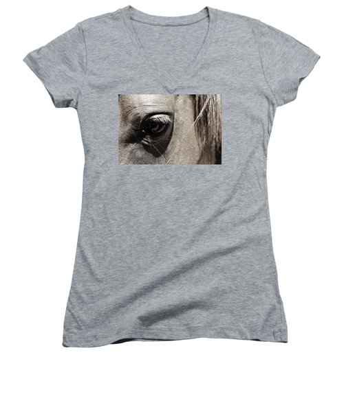 Stillness In The Eye Of A Horse Women's V-Neck (Athletic Fit)