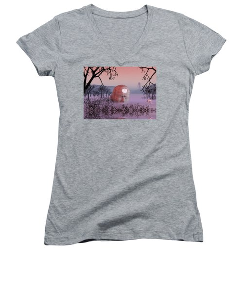 Seeking The Dying Light Of Wisdom Women's V-Neck T-Shirt