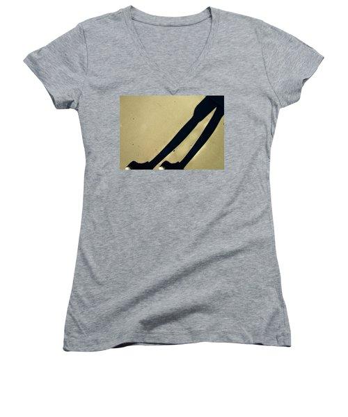 Women's V-Neck T-Shirt (Junior Cut) featuring the photograph Self-deception by Lenore Senior