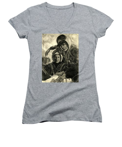 Self-portrait 1975 Women's V-Neck (Athletic Fit)