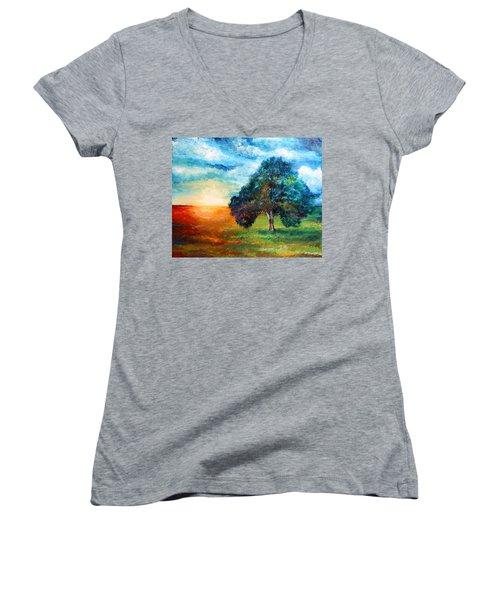 Self Portrait #3 A New Day Women's V-Neck T-Shirt