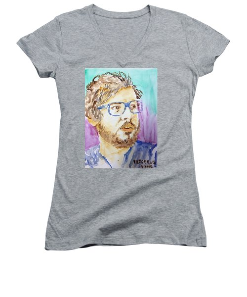 Self Portrait Of A Younger Me Women's V-Neck (Athletic Fit)