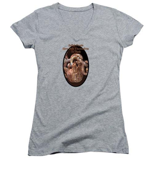 Selfish People Women's V-Neck T-Shirt