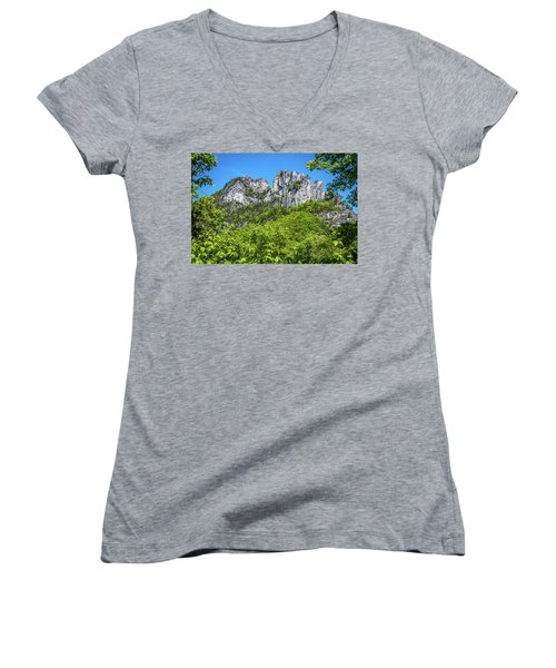 Seneca Rocks Women's V-Neck T-Shirt