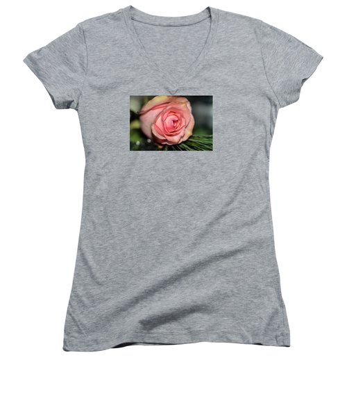 Women's V-Neck T-Shirt (Junior Cut) featuring the photograph Sentimentality by Diana Mary Sharpton