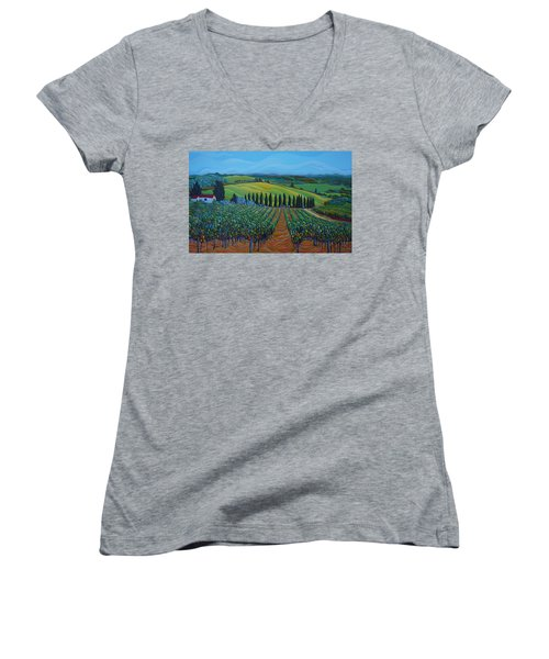 Sentrees Of The Grapes Women's V-Neck