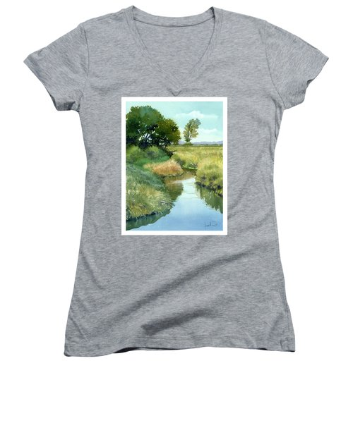 September Morning, Allen Creek Women's V-Neck