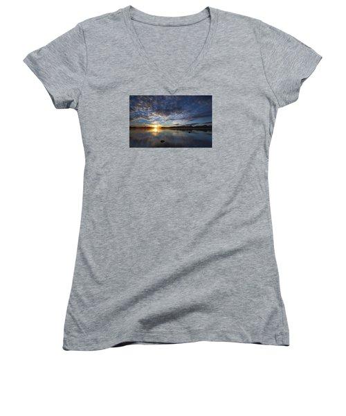 September Sunset Women's V-Neck T-Shirt