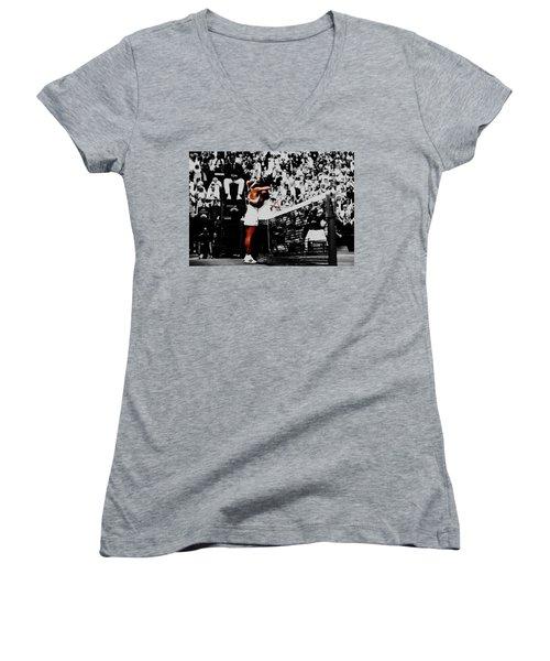 Serena Williams And Angelique Kerber Women's V-Neck T-Shirt