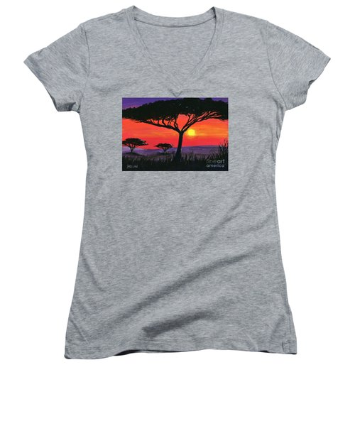 Kalahari  Women's V-Neck T-Shirt (Junior Cut)