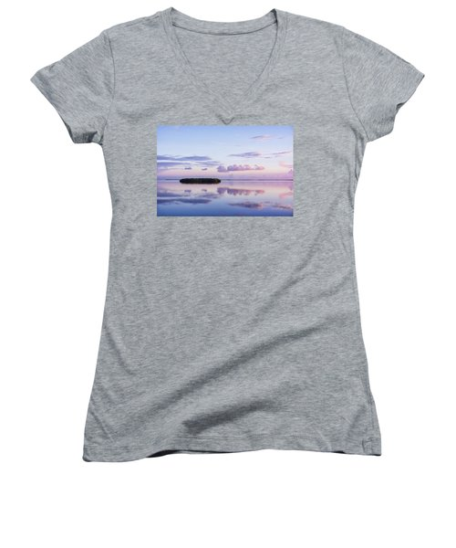 Serenity At Sunrise Women's V-Neck T-Shirt