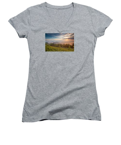 Women's V-Neck T-Shirt (Junior Cut) featuring the photograph Serenity by Doug McPherson