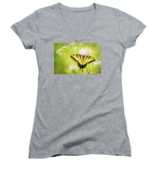 Series Of Yellow Swallowtail #6 Of 6 Women's V-Neck T-Shirt