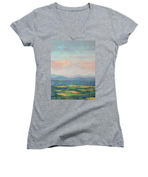 Set Free Women's V-Neck T-Shirt (Junior Cut) by Bonnie Mason