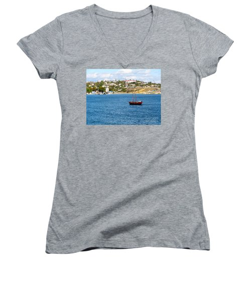 Sevastapol. Ukraine Women's V-Neck T-Shirt