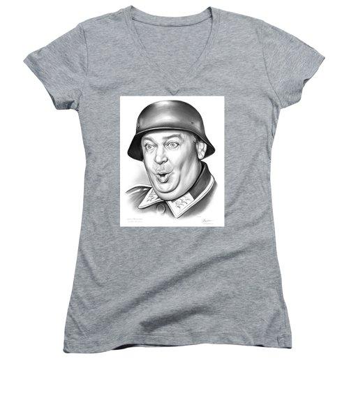Sgt Schultz Women's V-Neck T-Shirt (Junior Cut) by Greg Joens