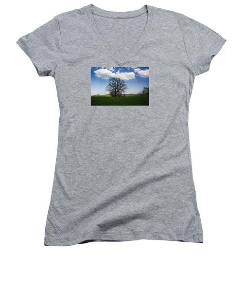 Shade Women's V-Neck T-Shirt (Junior Cut) by Dan Hefle