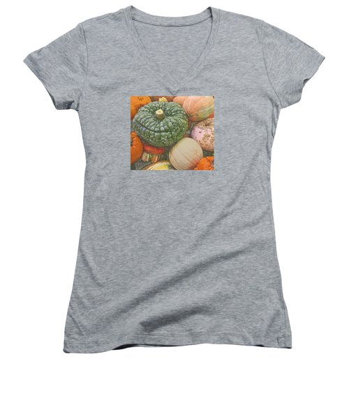 Shades Of Autumn Women's V-Neck T-Shirt