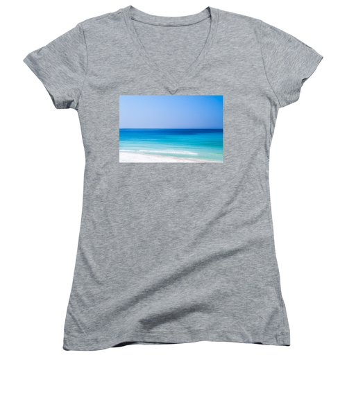 Shades Of Blue Women's V-Neck T-Shirt (Junior Cut) by Shelby  Young