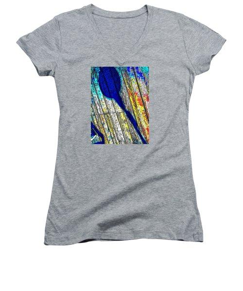 Shadow Women's V-Neck T-Shirt (Junior Cut) by Daniel Thompson