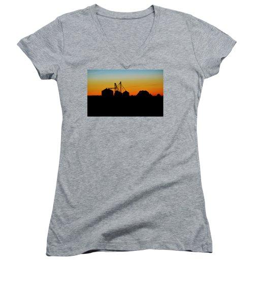 Shadow Farm Women's V-Neck T-Shirt (Junior Cut) by William Bartholomew